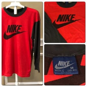 Vtg80s Blue Tag Nike 2tone single stitch shirt